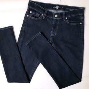 7FAM | Roxanne Dark Wash Skinny Jeans Denim 26